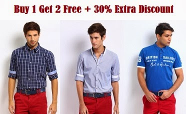 New Offer: Buy 1 Get 2 Free offer on Mast & Harbour Shirts & Tshirst + 30% Extra off at Myntra