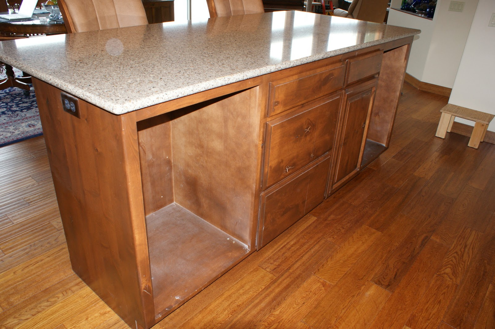 kitchen island with refrigerator antique or not our kitchen cabinet rehab 19830