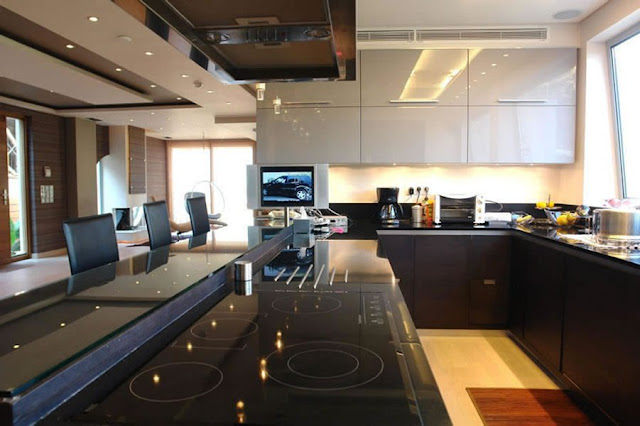 Modern villa, Greece, kitchen