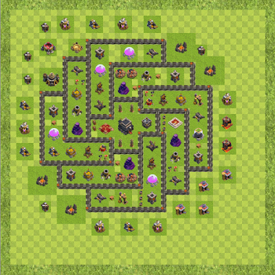 War Base Town Hall Level 9 By Bonez1 (Th9 TH 9 Layout)