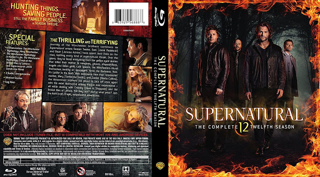 Supernatural Season 12 Bluray Cover