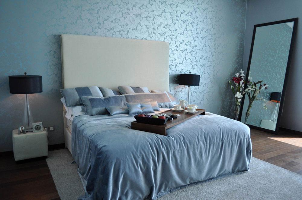 Dormitorios decorados en celeste y blanco dormitorios - Dormitorio azul y blanco ...