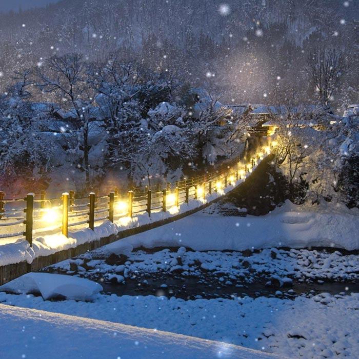 Snowy Bridge Wallpaper Engine