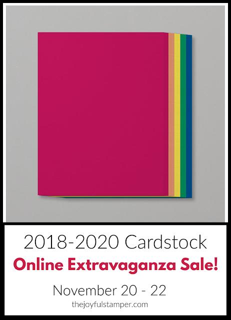 2018-2020 In Color cardstock - Online Extravaganza Sale