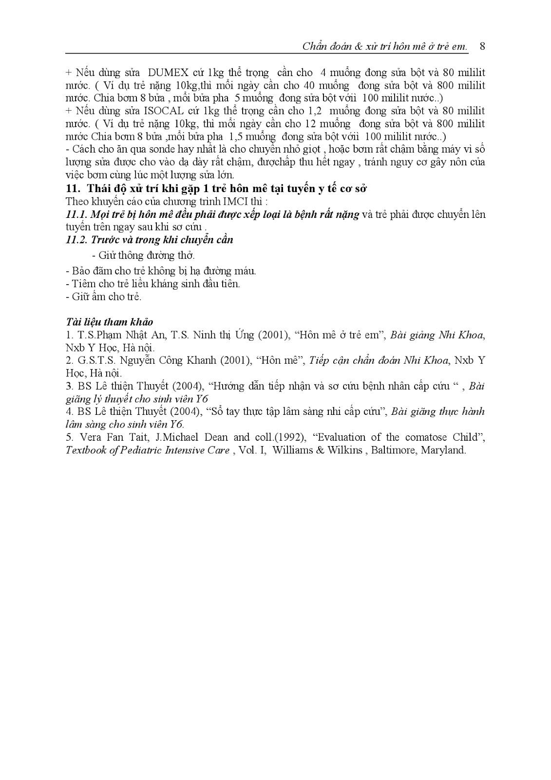 Trang 9 sach Bài giảng Nhi khoa III (Sơ sinh - Cấp cứu - Thần kinh - Chăm sóc sức khỏe ban đầu) - ĐH Y Huế