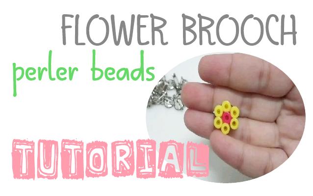 Tutorial Kraf MUdah : Brooch BUnga Perler Beads