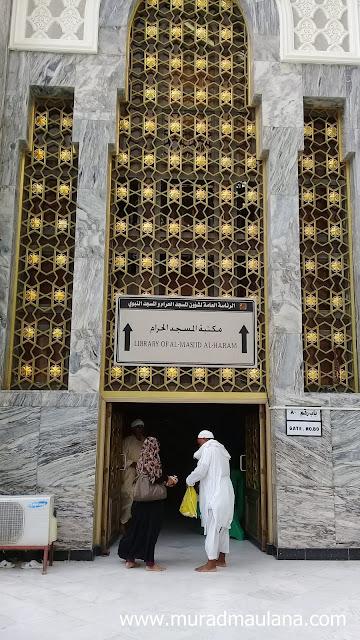 Masuk Perpustakaan Masjidil Haram Dari Samping
