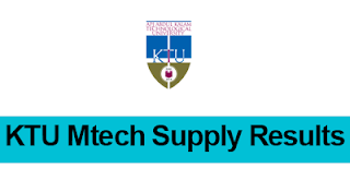 KTU Mtech Supply results 2017