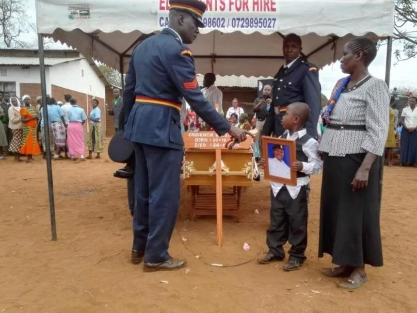 Policewoman who shot herself inside airport toilet laid to rest in Kenya