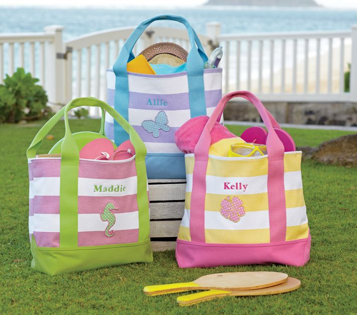 Our Kids Beach tote bags are great for carrying around your school & office work, or other shopping purchases. Shop our designs today!