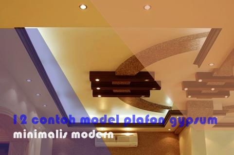 12 contoh model plafon gypsum minimalis modern