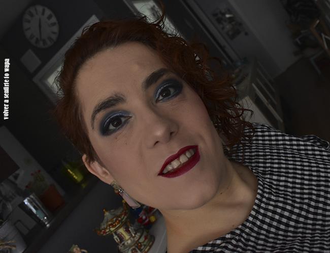 Maquillaje en tonos azules con la marca Miyo