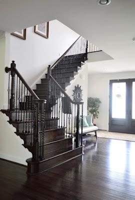 30 ide desain terbaik tangga rumah modern bentuk-l