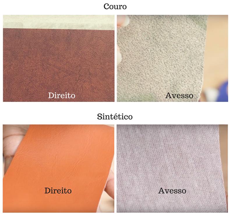 Diferença entre couro e sintético