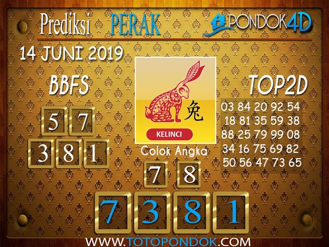 Prediksi Togel PERAK PONDOK4D 14 JUNI 2019