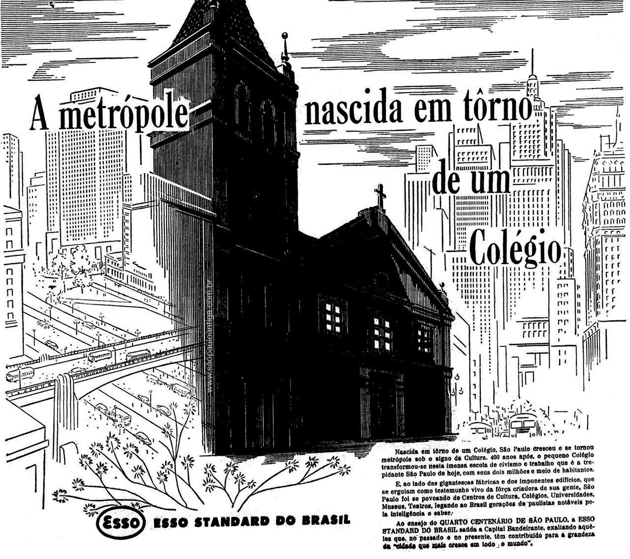 Campanha comemorativa da Esso aos 400 anos da cidade de São Paulo