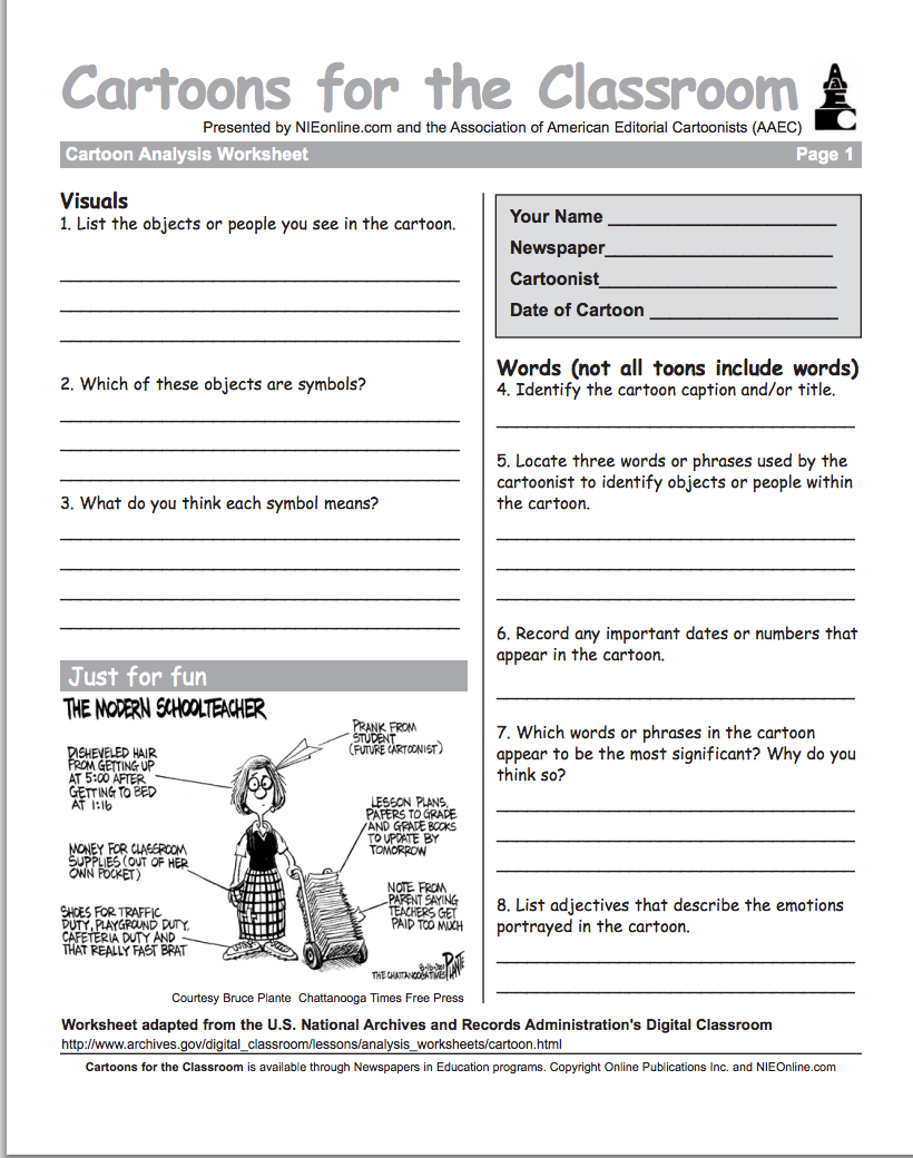 Hundreds Of Free Downloadable Cartoons For Your Classroom