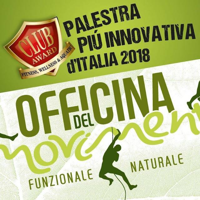 """La """"palestra non palestra"""" Officina del Movimento di Abano Terme è stata premiata a Bologna, al FORUMCLUB come palestra più innovativa d'Italia."""
