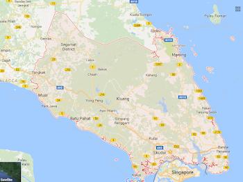 Maps atau Peta dan Daerah-daerah Di Negeri Johor