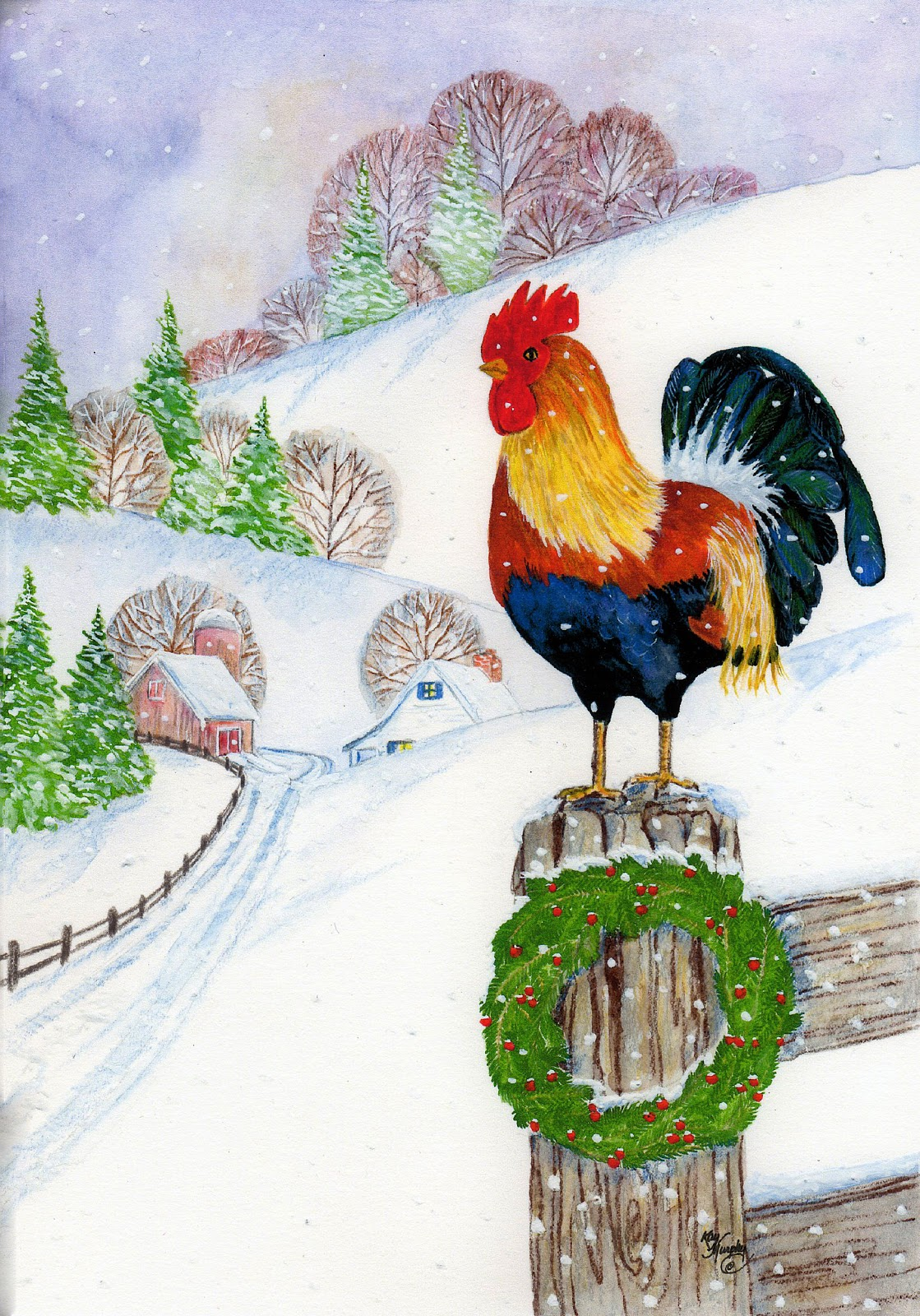 Kay Murphy\'s Studio Kay Murphy-Wallace:artist: Christmas Cards