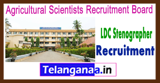ASRB LDC Agricultural Scientists Recruitment Board  Lower Division Clerk Stenographer Gr 3 Recruitment 2017 Admit Card