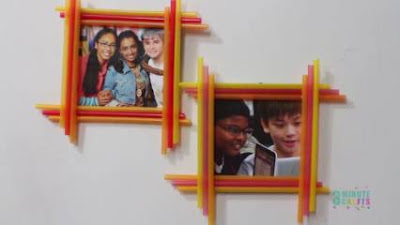 Cara Membuat Bingkai Foto dari Sedotan Plastik yang Termudah