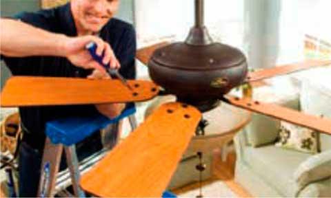 Instalaciones eléctricas residenciales - Armando aspas de ventilador de techo