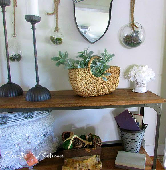 Summer decor diy ideas for a small entryway