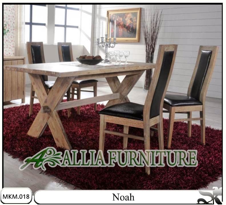 Set meja dan kursi makan Noah