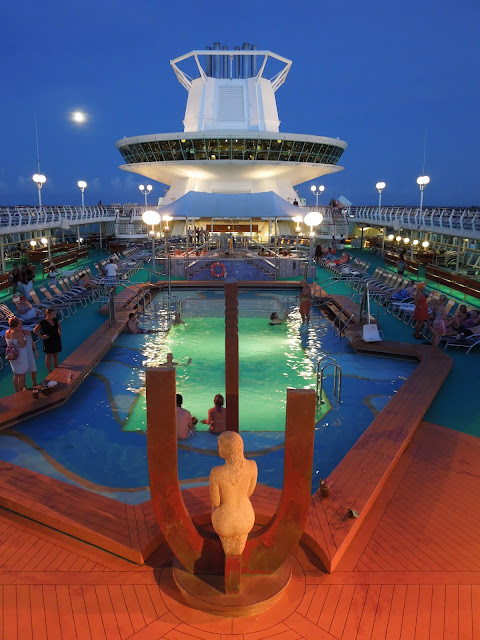 Monarch of the Seas pool deck at night