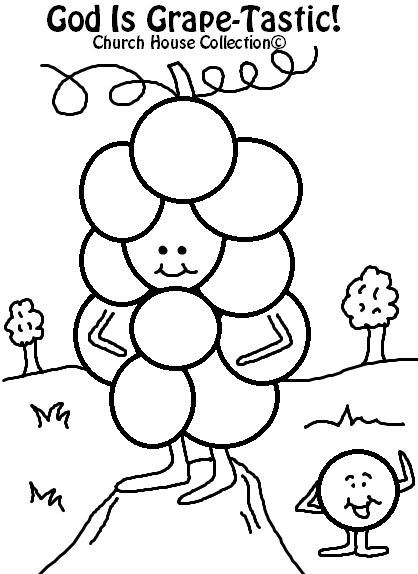 God Is Grape-Tastic! Coloring Page For Valentine's Day For Kids In Sunday School or Childrens Church