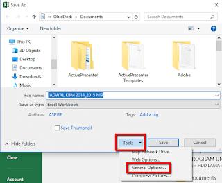 Langkah-langkah Cara Memproteksi File Workbook Excel dengan Password