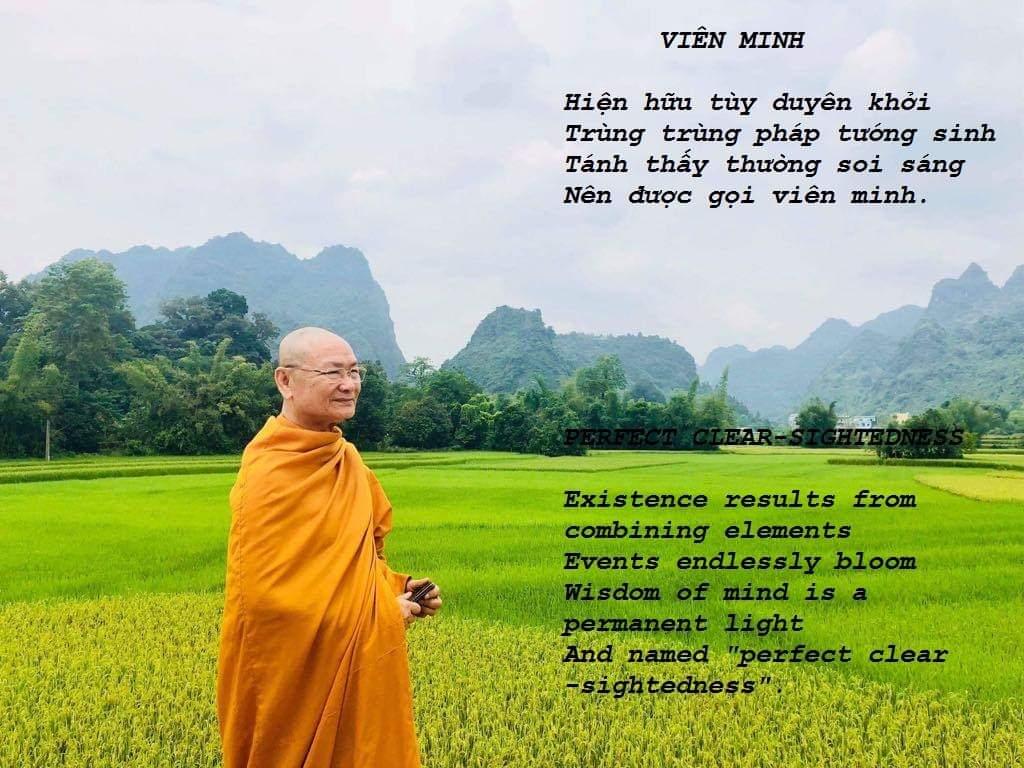 Một số bài thơ kệ (song ngữ) của Sư Ông Viên Minh - Tổ đình Bửu Long