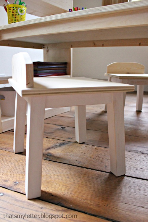 how to build kids stools