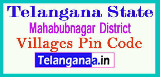 Mahabubnagar District Pin Codes in Telangana State