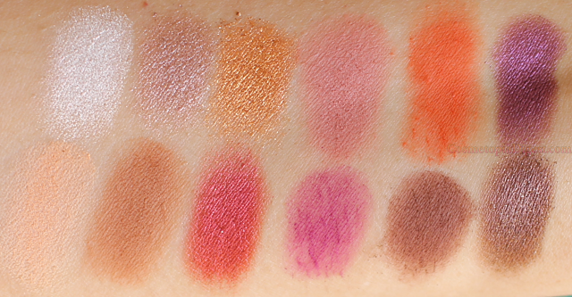 Coloured Raine Queen of Hearts Eyeshadow Palette Swatches