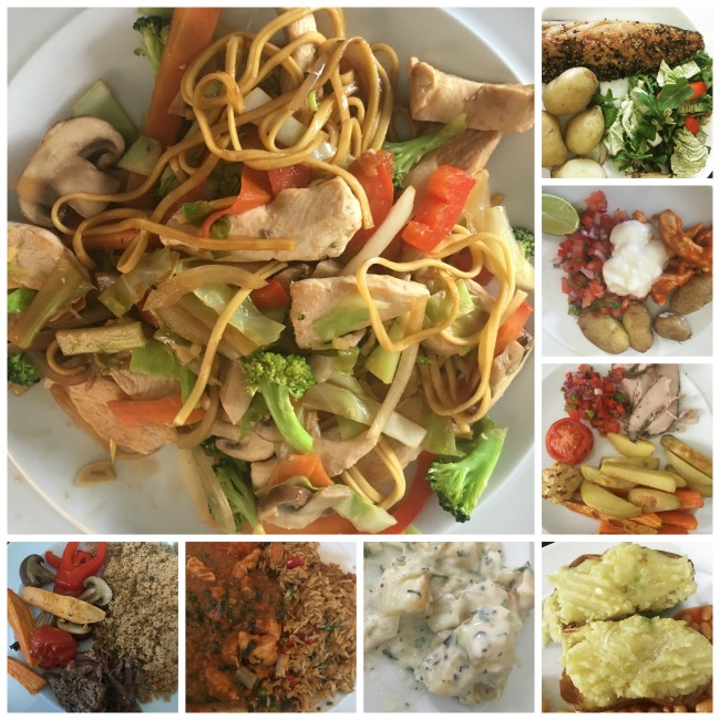 Slimming-world-weigh-in-number-17-with-7-day-meal-plans-collage-of-images-of-plated-meals