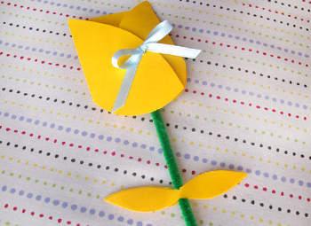 tarjeta flor tulipán