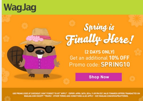 Wagjag 10% Off Spring Sale Promo Code