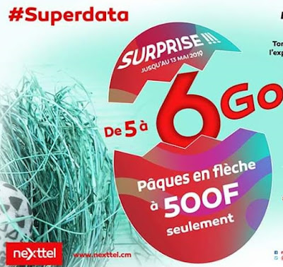 Grab your 6GB for only 600Frs on Nexttel Cameroon