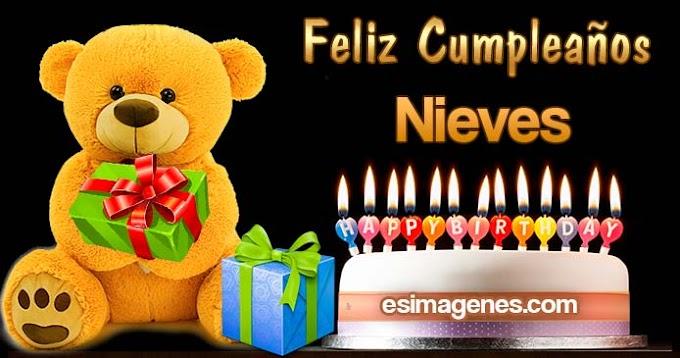 Feliz cumpleaños Nieves