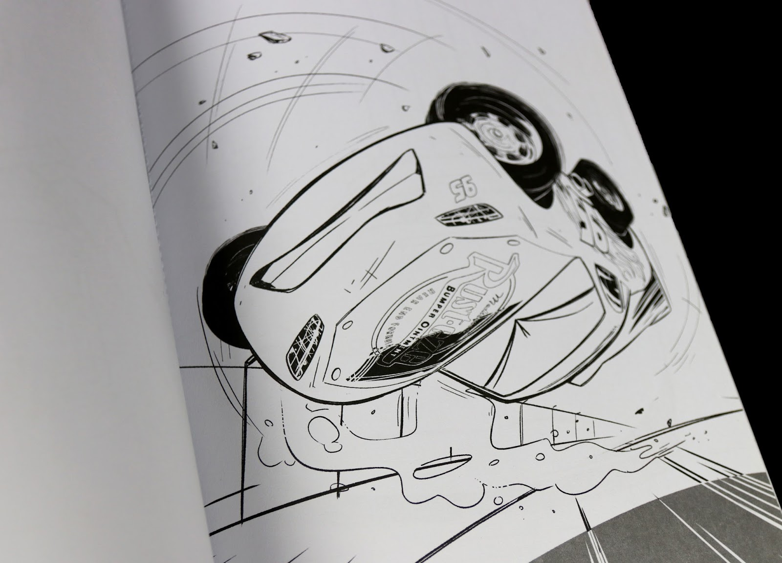pixar cars 3 STORM FRONT PAINT BOOK