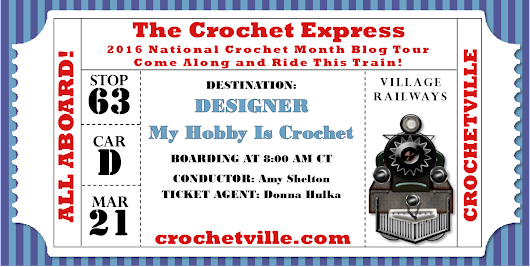 Celebrating National Crochet Month with a New Free Crochet Pattern and a Giveaway on myhobbyiscrochet.com