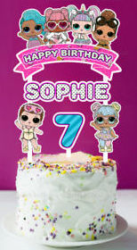 Lol Surprise Free Printable Cake Toppers Oh My Fiesta In English