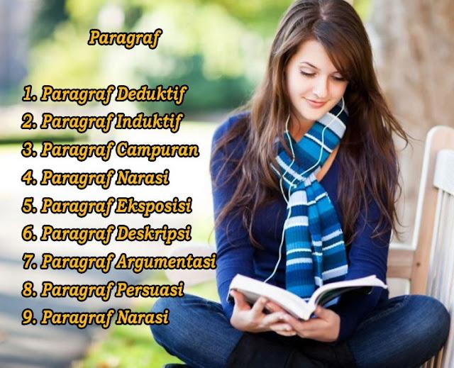 Paragraf Deduktif, Induktif, Campuran, Narasi, Eksposisi, Deskripsi, Argumentasi, Persuasi, Narasi dan Contohnya
