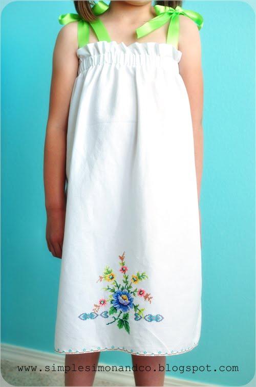 Guest Post- A Vintage Pillowcase Dress Tutorial - Simple ...