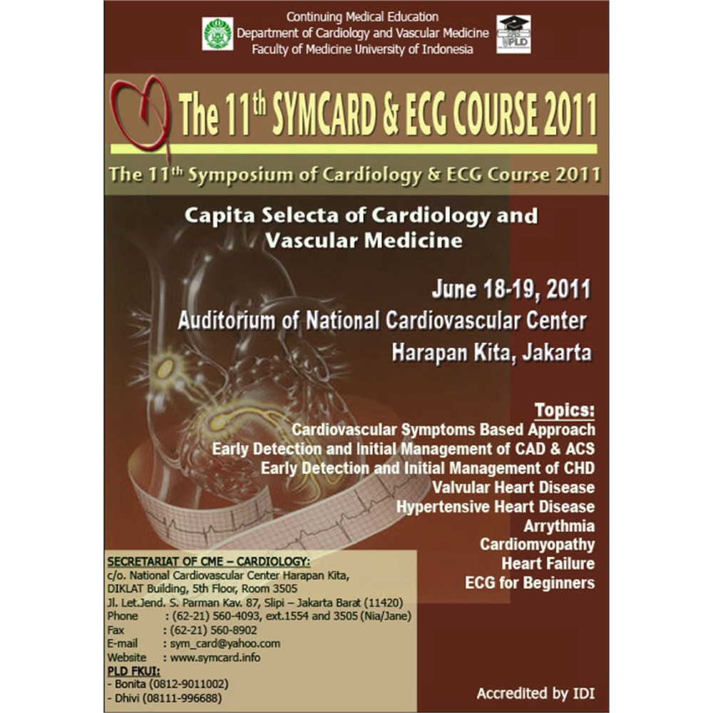 Medical Event: The 11th Symposium Of Cardiology & ECG Course