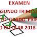 Examen Trimestral (segundo trimestre)  5° Primaria Ciclo Escolar 2018-2019.