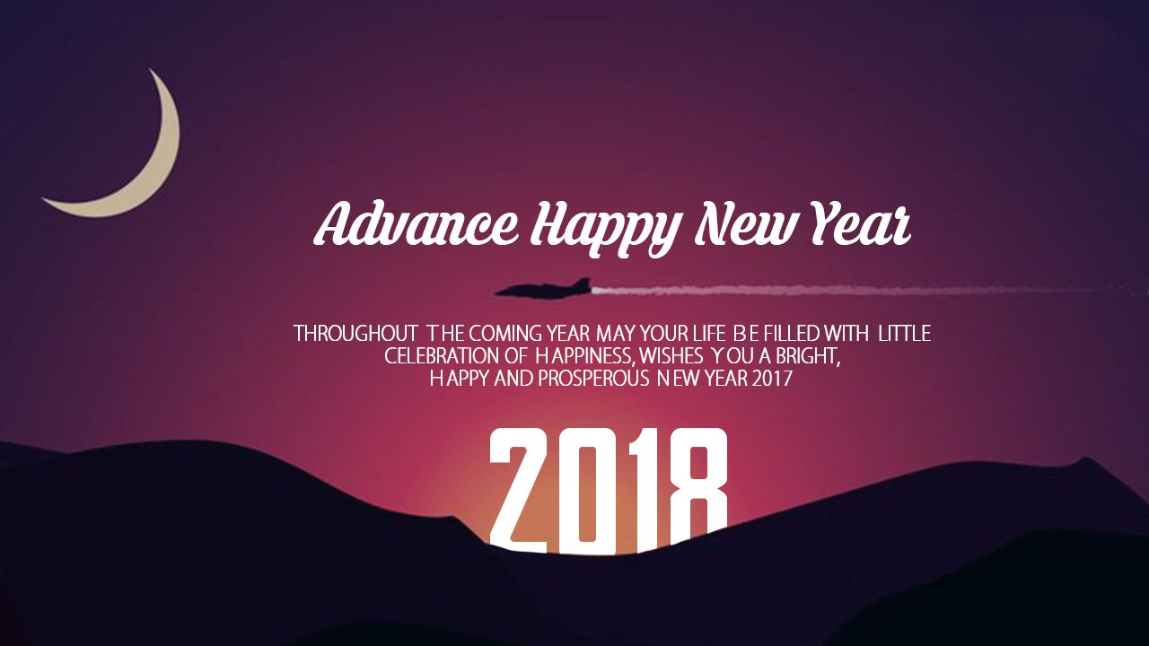 Advance Happy New Year 2018 Images