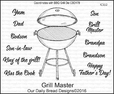 ODBD Stamp Set:Grill Master